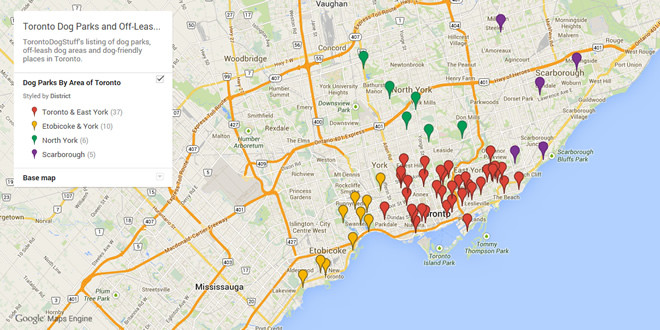 Map – Toronto Dog Parks & Off-Leash Areas